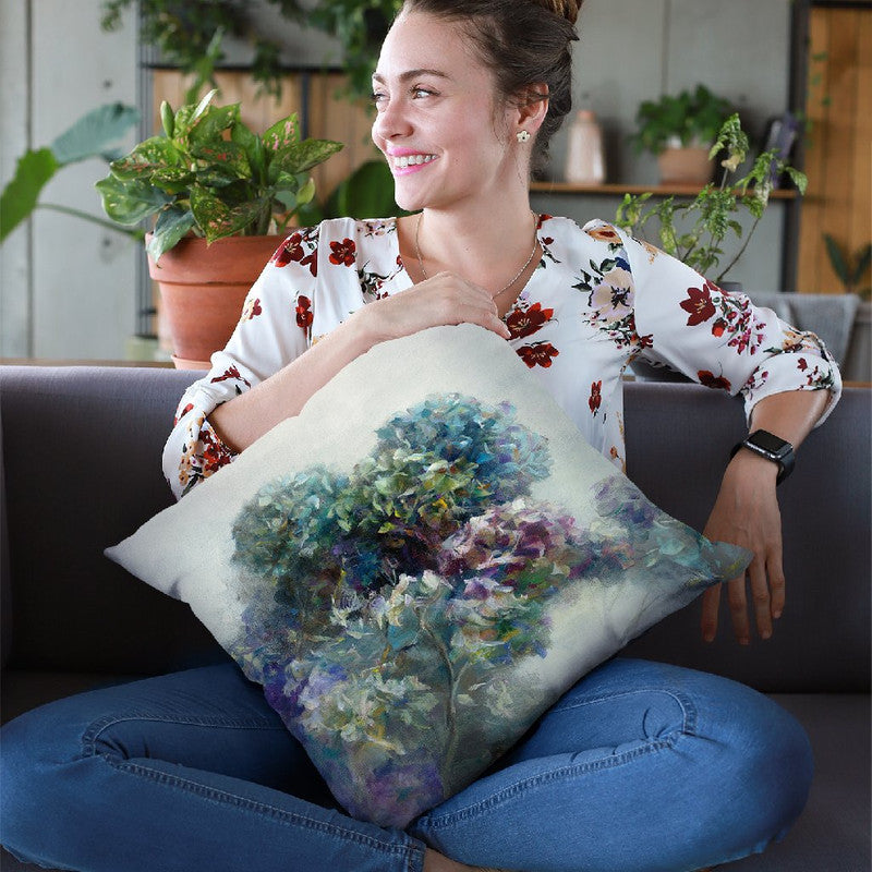 Abstract Hydrangea Throw Pillow By Danhui