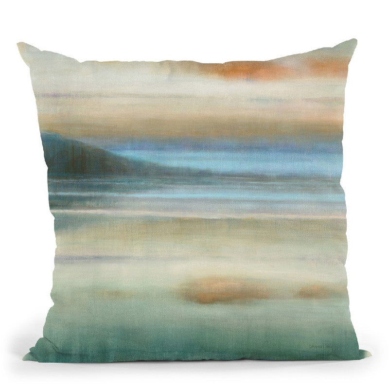 Coastal Sunset Throw Pillow By Danhui