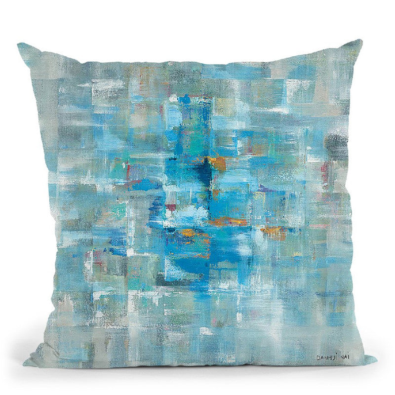 Abstract Squares Throw Pillow By Danhui