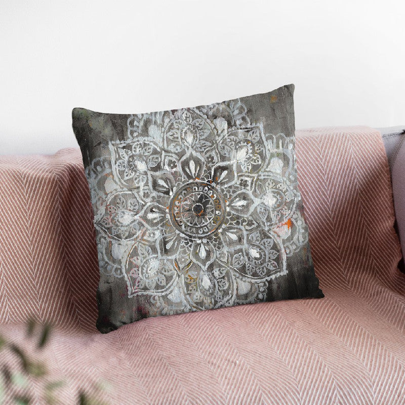Mandala In Neutral Ii Throw Pillow By Danhui