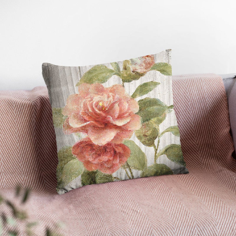 Scented Cottage Florals Iii Throw Pillow By Danhui