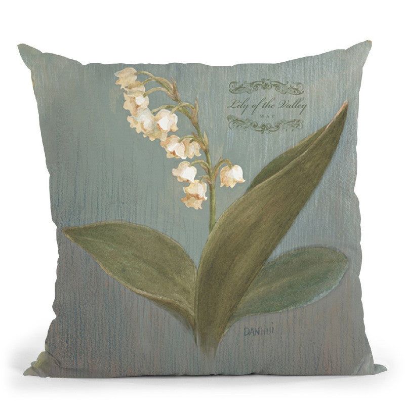 May Lily Throw Pillow By Danhui