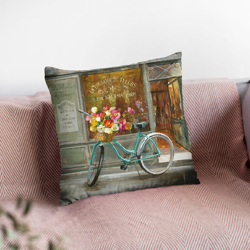French Flowershop Throw Pillow By Danhui