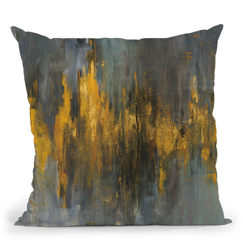 Black And Gold Abstract Throw Pillow By Danhui