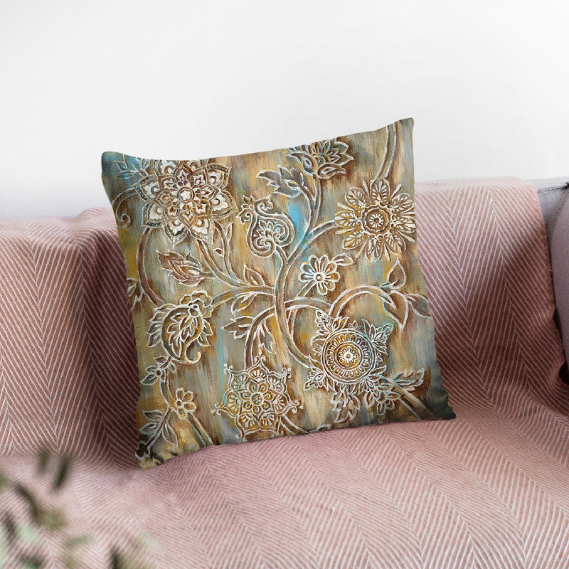 Henna Throw Pillow By Danhui
