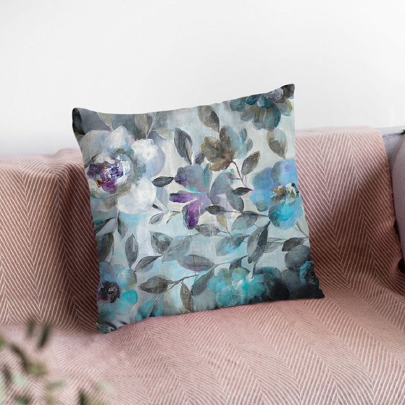 Twilight Flowers Throw Pillow By Danhui
