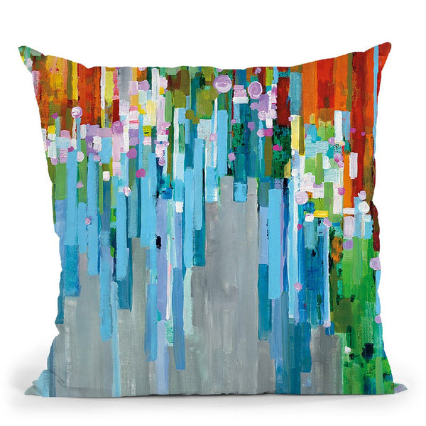 Rainbow Of Stripes Throw Pillow By Danhui
