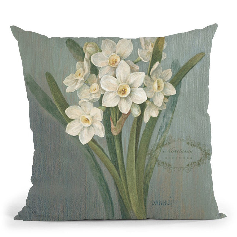 December Narciss Throw Pillow By Danhui