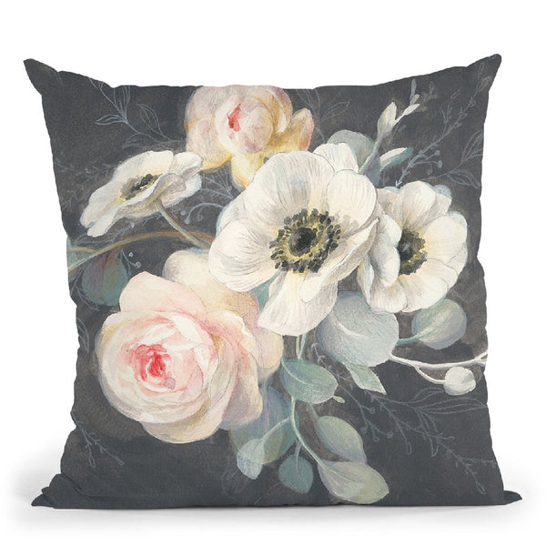 Roses And Anemones Throw Pillow By Danhui