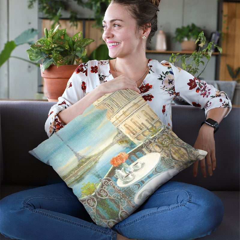 Morning On The Seine Crop Throw Pillow By Danhui
