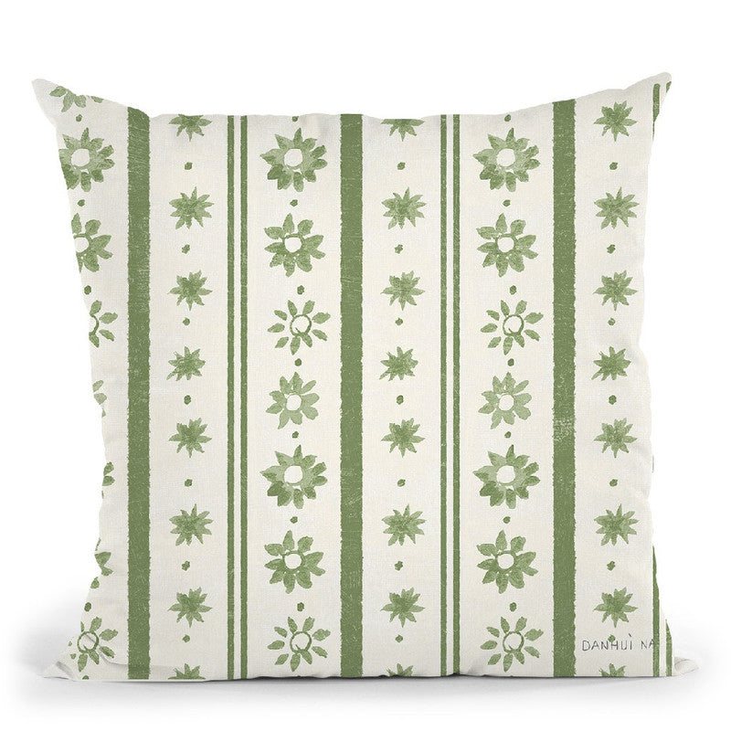Floursack Holiday Bright Pattern Iih Throw Pillow By Danhui