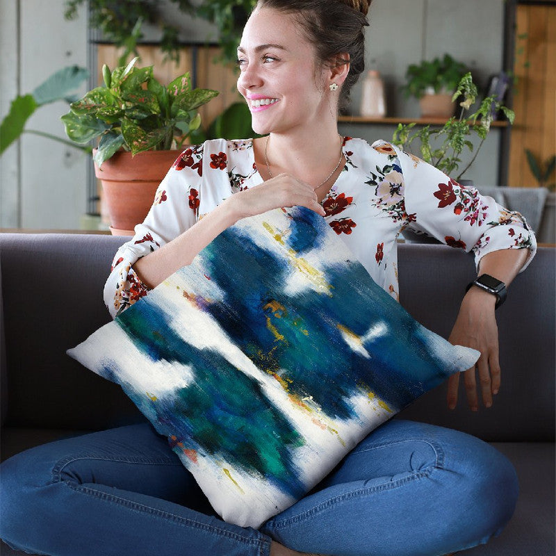 Blue Texture I Throw Pillow By Danhui