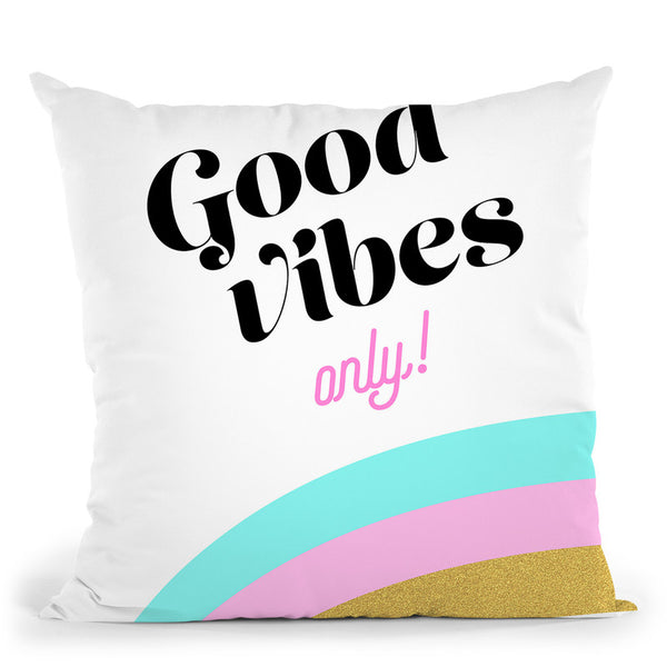 Good Vibes Only I Throw Pillow By Dom Vari