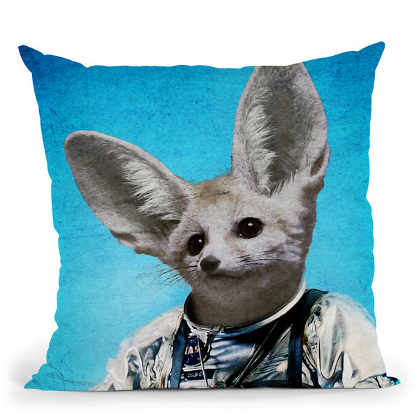 Captain Fennec Throw Pillow By Duro Print