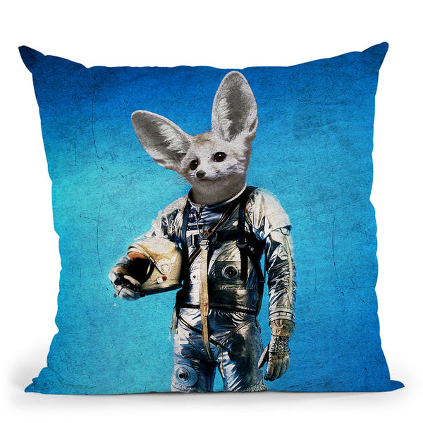 Fennec The Captain Throw Pillow By Duro Print