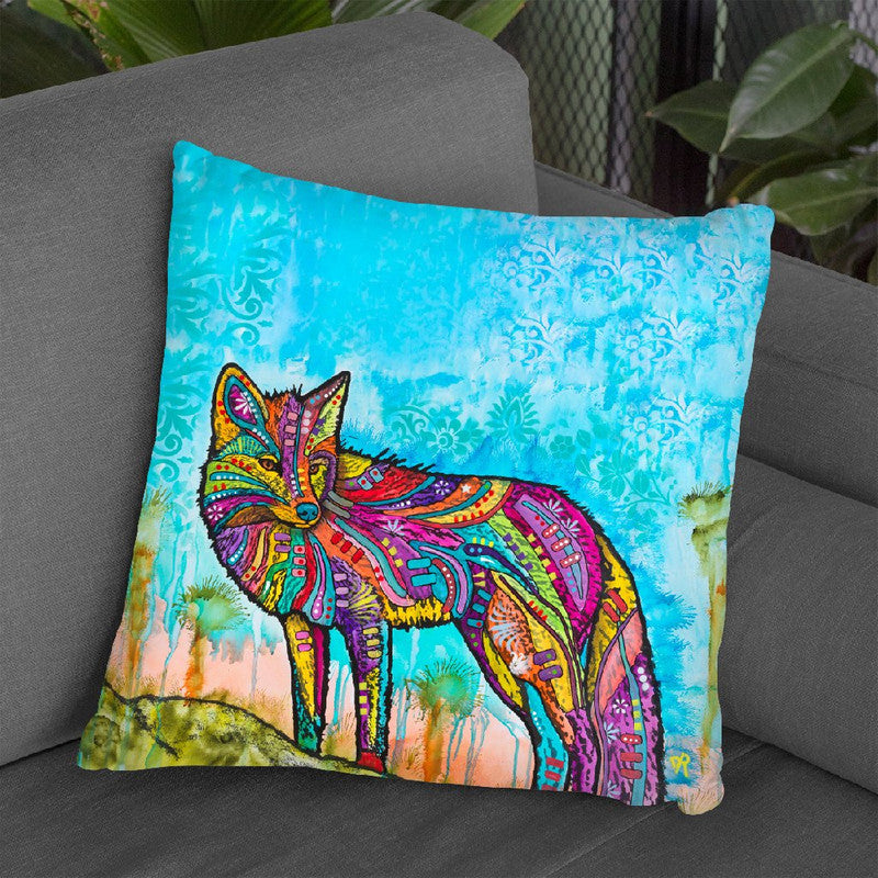 Electric Fox Throw Pillow By Dean Russo