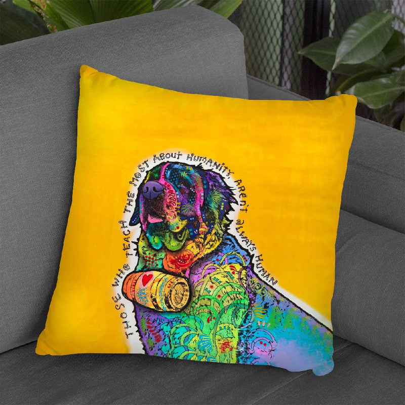 Humanity Throw Pillow By Dean Russo