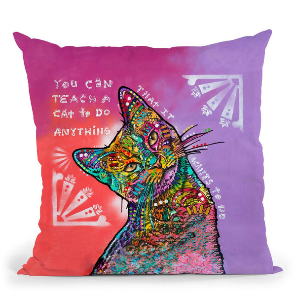 You Can Teach A Cat Throw Pillow By Dean Russo