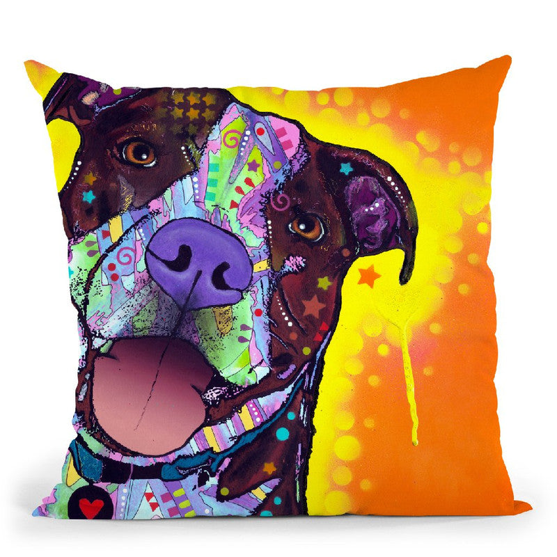 Daisy Pit Throw Pillow By Dean Russo
