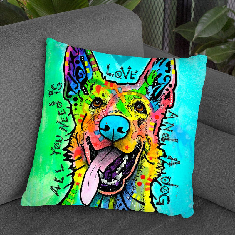 Love And A Dog Throw Pillow By Dean Russo