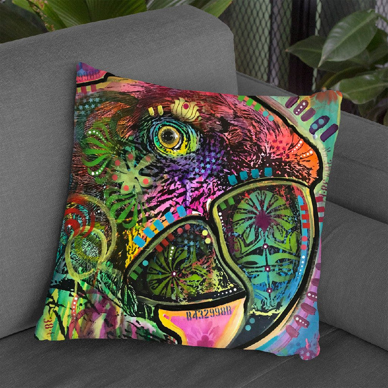 Close Up Parrot Throw Pillow By Dean Russo
