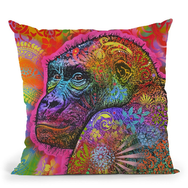 Gorilla Throw Pillow By Dean Russo
