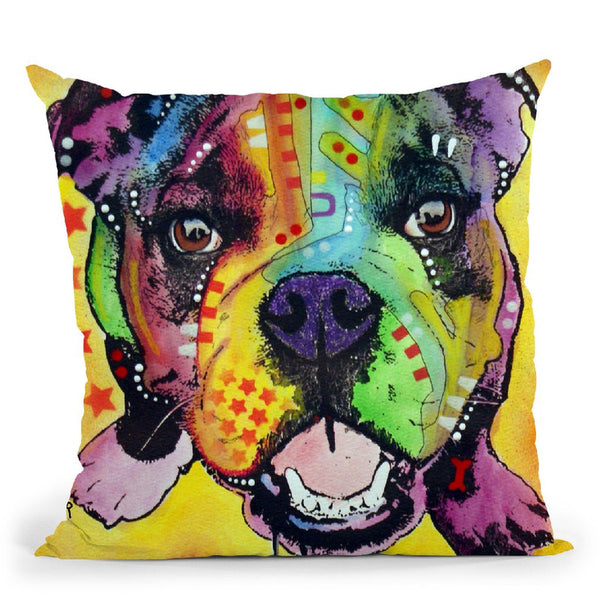 Baby Bulldog Throw Pillow By Dean Russo