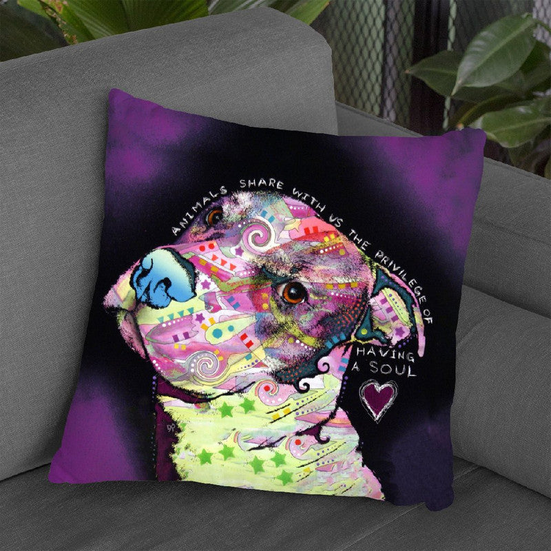 Soul Throw Pillow By Dean Russo