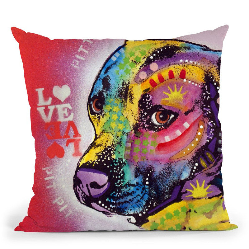 Gratitude Pit Bull Pittie LoveÊ Throw Pillow By Dean Russo
