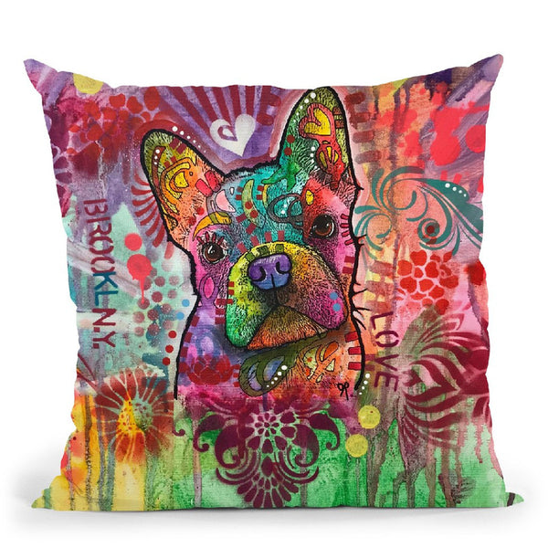 Frenchie Jacket Throw Pillow By Dean Russo