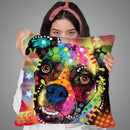 Boxer Cubism 2 Throw Pillow By Dean Russo