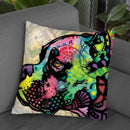 Boxer Square Throw Pillow By Dean Russo