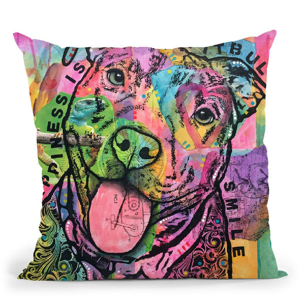 Happiness Saatchi Throw Pillow By Dean Russo
