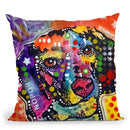 Spotted Beagle Throw Pillow By Dean Russo
