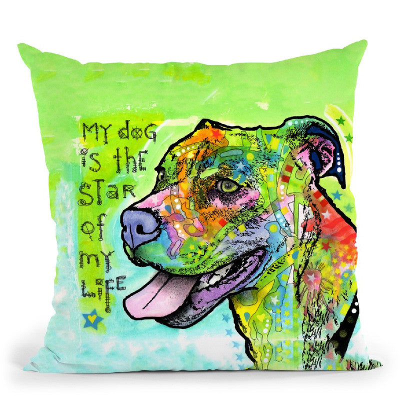 The Star Of My Life Throw Pillow By Dean Russo