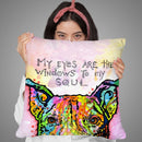 Windows To My Soul Throw Pillow By Dean Russo