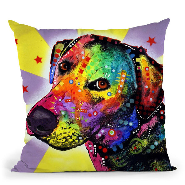 Yellow Sorta Lab Throw Pillow By Dean Russo
