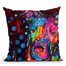 Young Bull Throw Pillow By Dean Russo