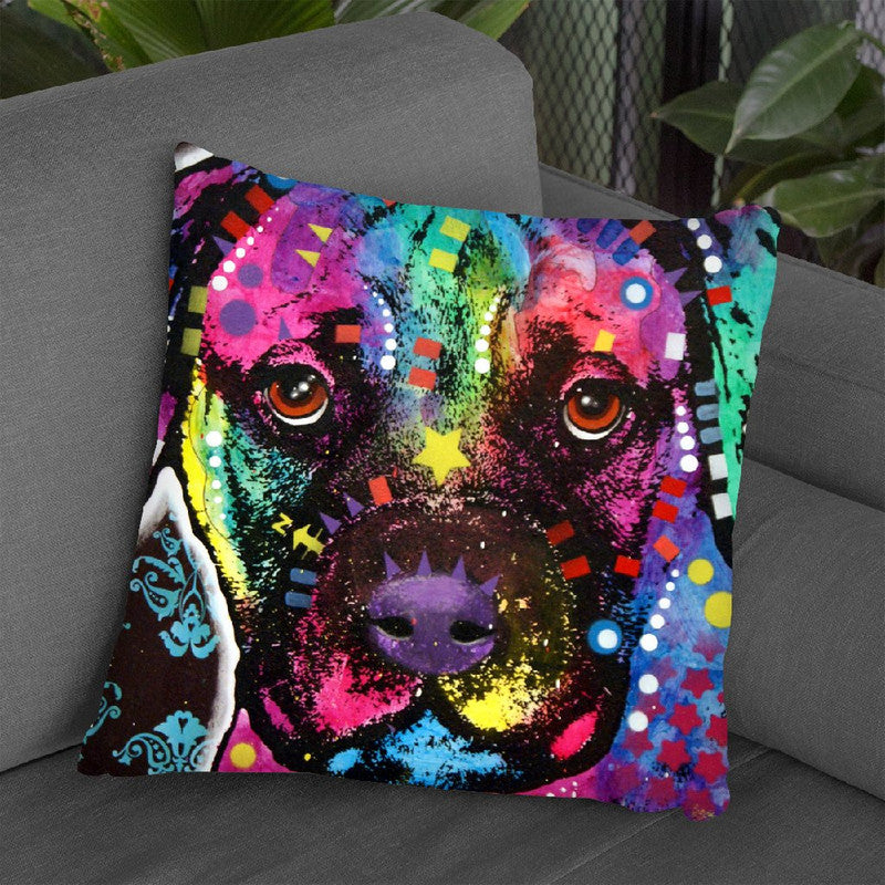 Young Bullmastiff Throw Pillow By Dean Russo