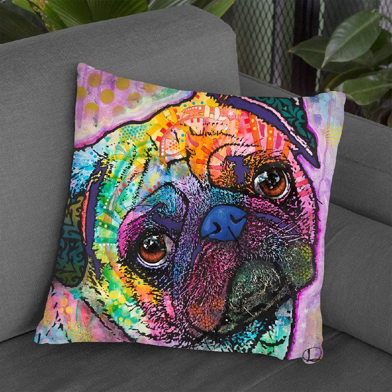 Pug Love Throw Pillow By Dean Russo