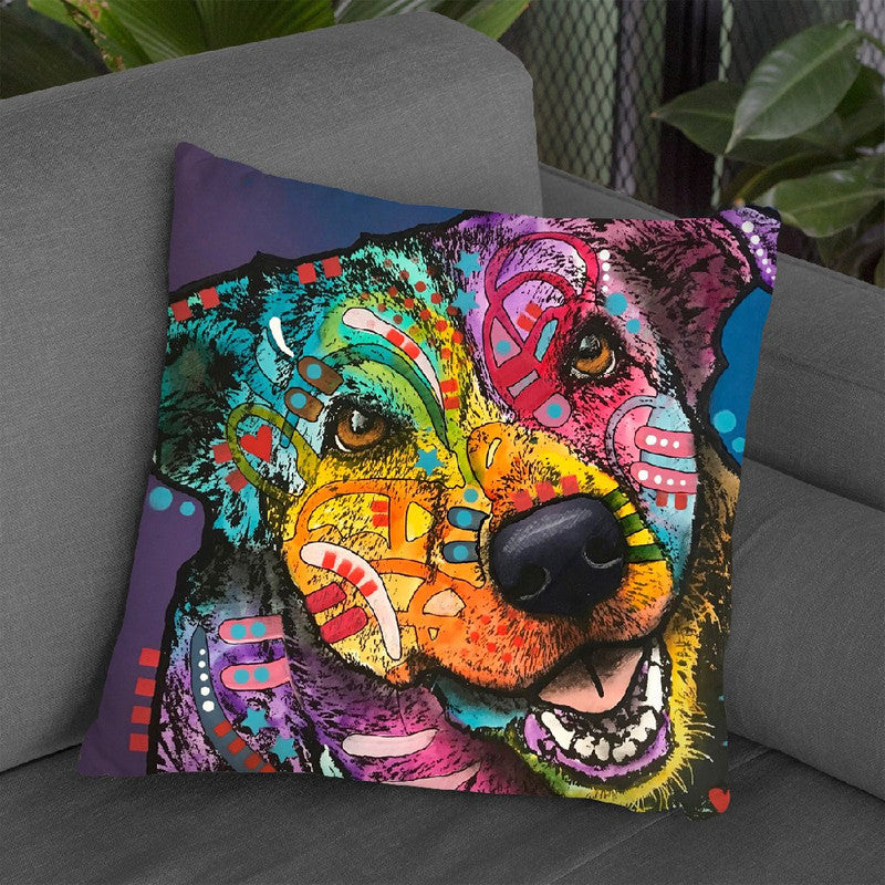 Happiness In His Eyes Throw Pillow By Dean Russo