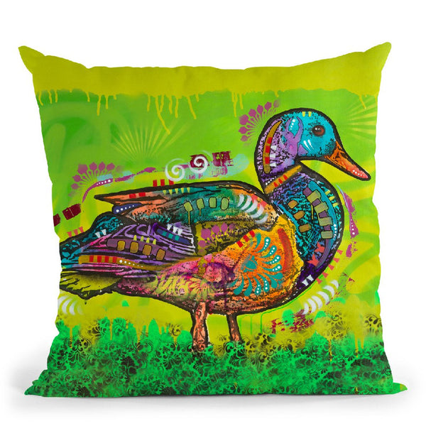 Electric Duck Throw Pillow By Dean Russo
