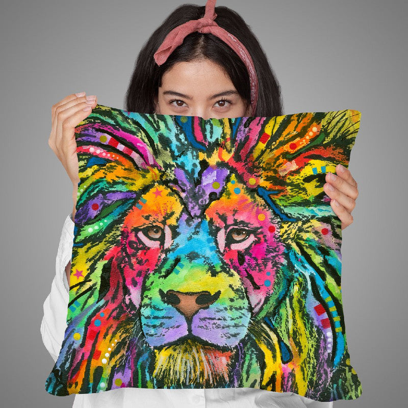 Lion Good Throw Pillow By Dean Russo