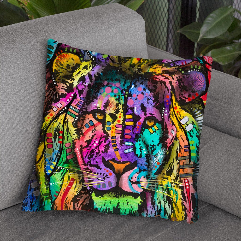 King Of The Jungle Throw Pillow By Dean Russo