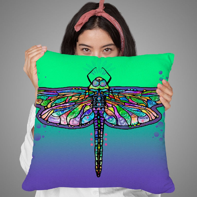 Dragonfly Throw Pillow By Dean Russo
