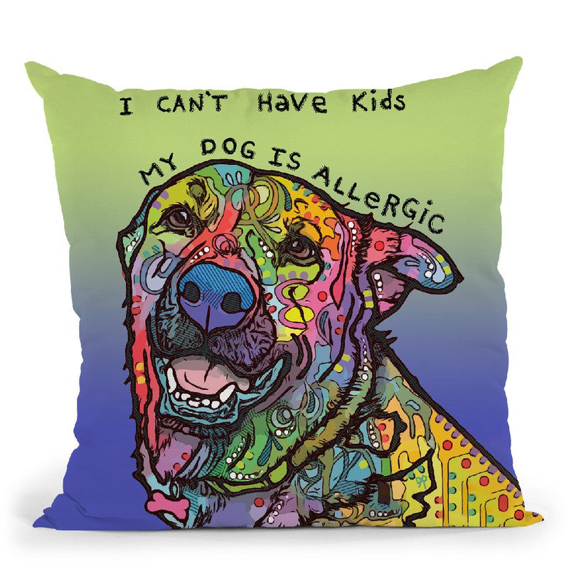 Allergic Throw Pillow By Dean Russo