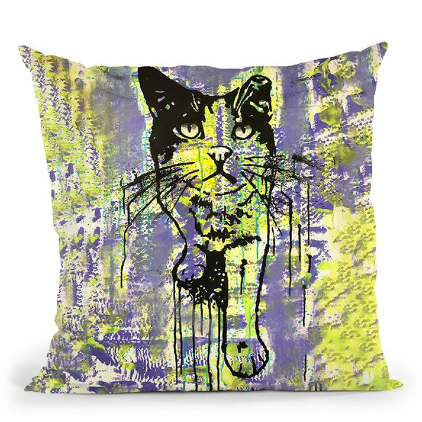 Baby Cat Throw Pillow By Dean Russo