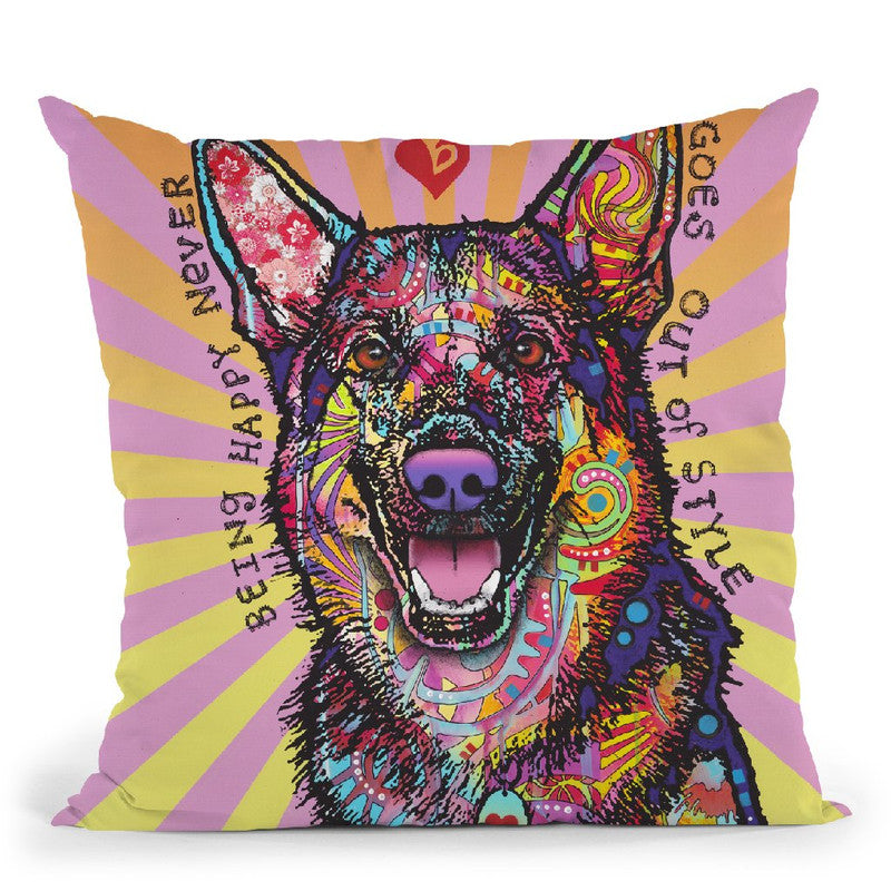 Being Happy Throw Pillow By Dean Russo