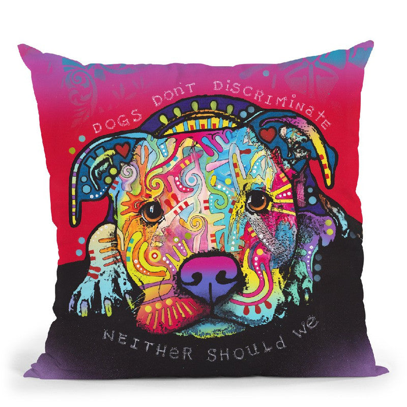 Dogs Don'T Discriminate Throw Pillow By Dean Russo
