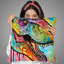 T Rex 1 Throw Pillow By Dean Russo